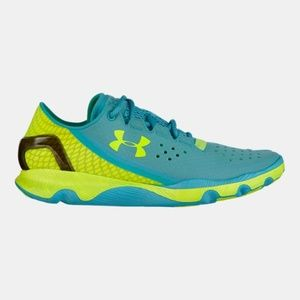 UA Blue Green SpeedForm Apollo Running Shoes 9.5